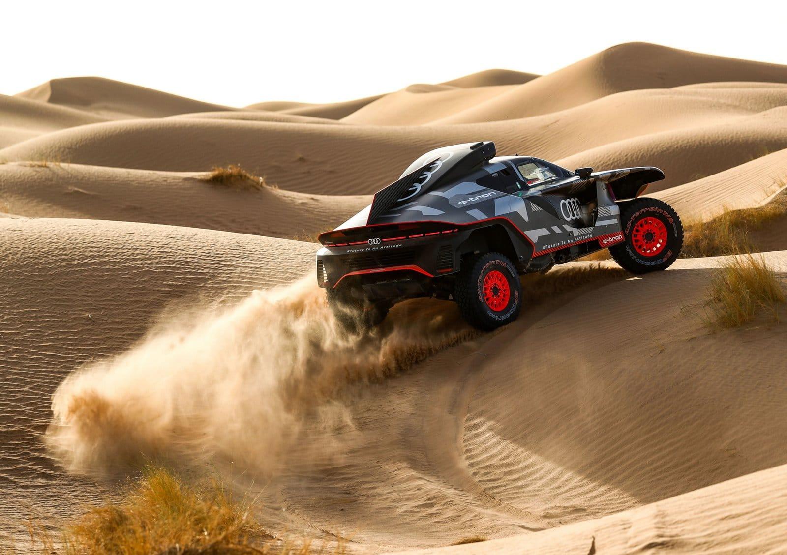 El Audi RS Q e-tron inicia sus pruebas en Marruecos