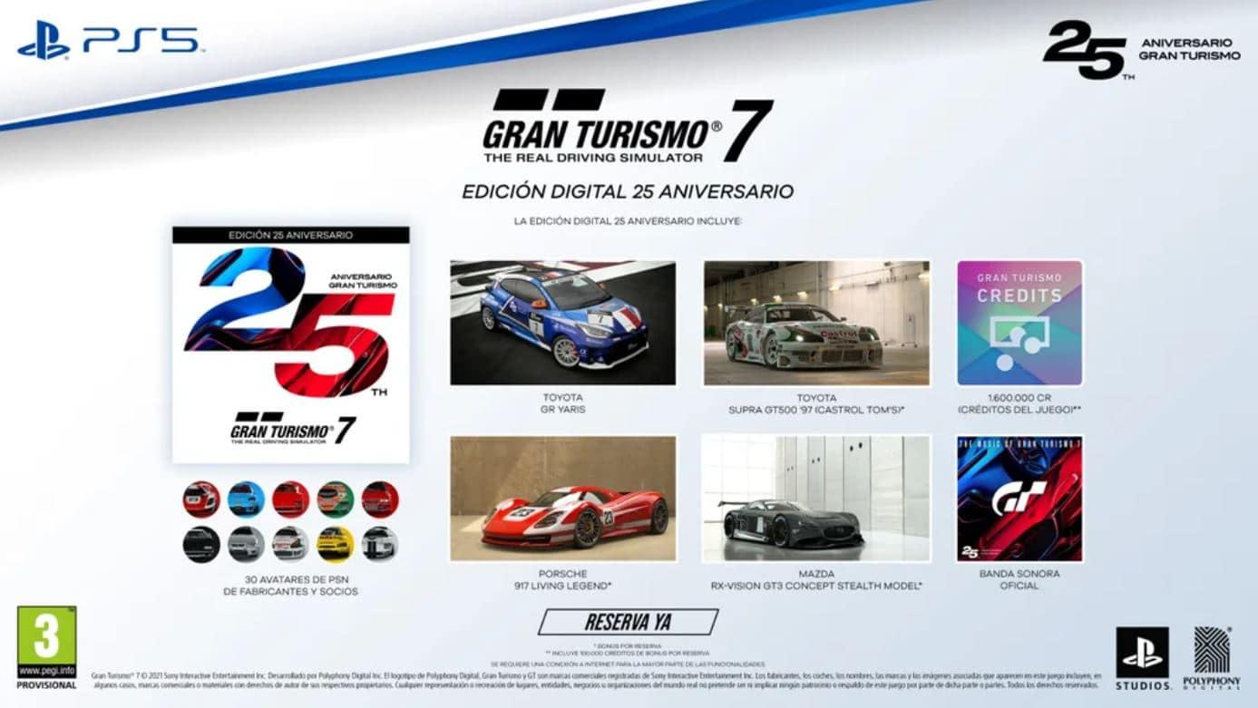 Gran Turismo 7 25 aniversario digital deluxe