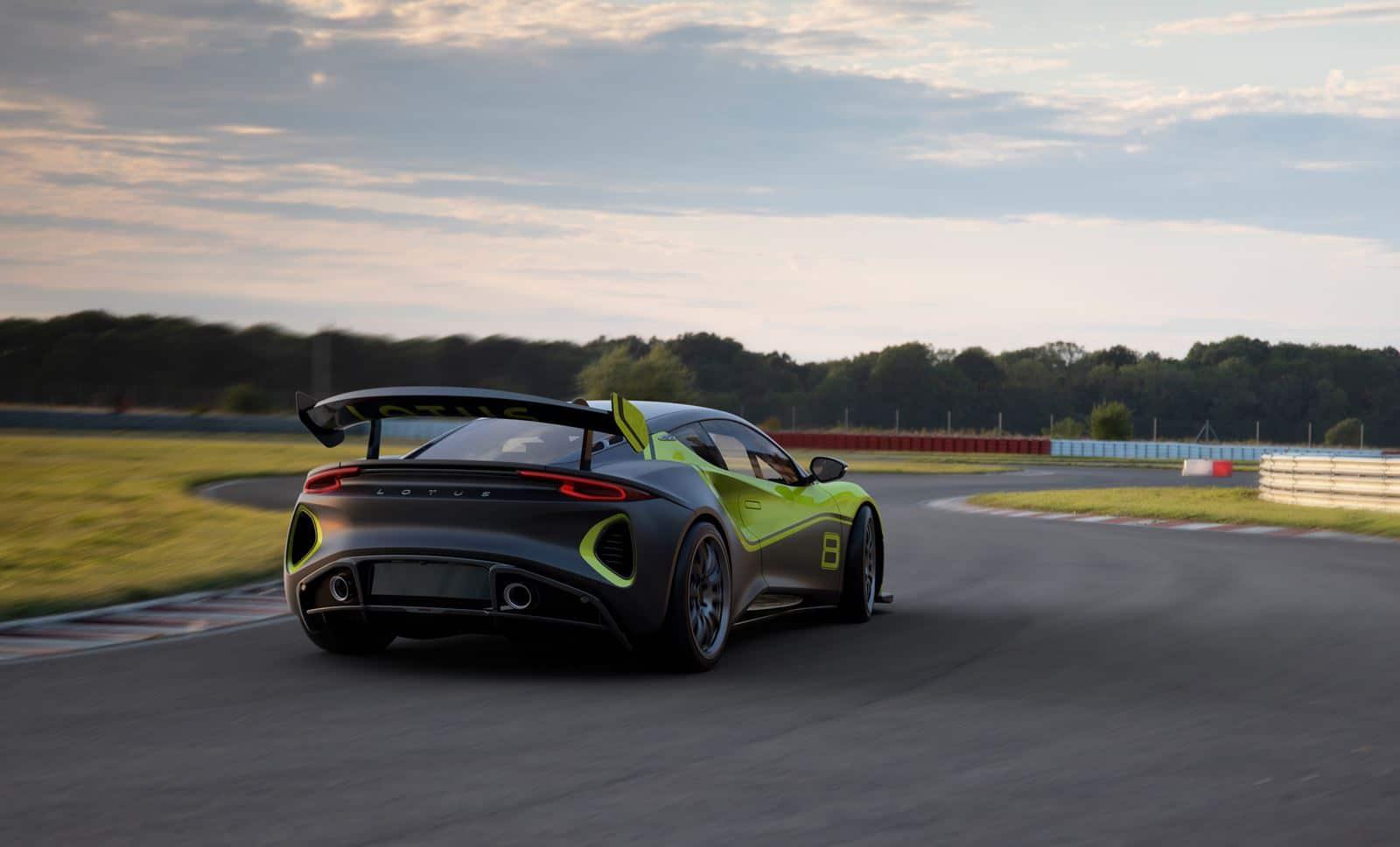 Lotus Emira GT4 trasera