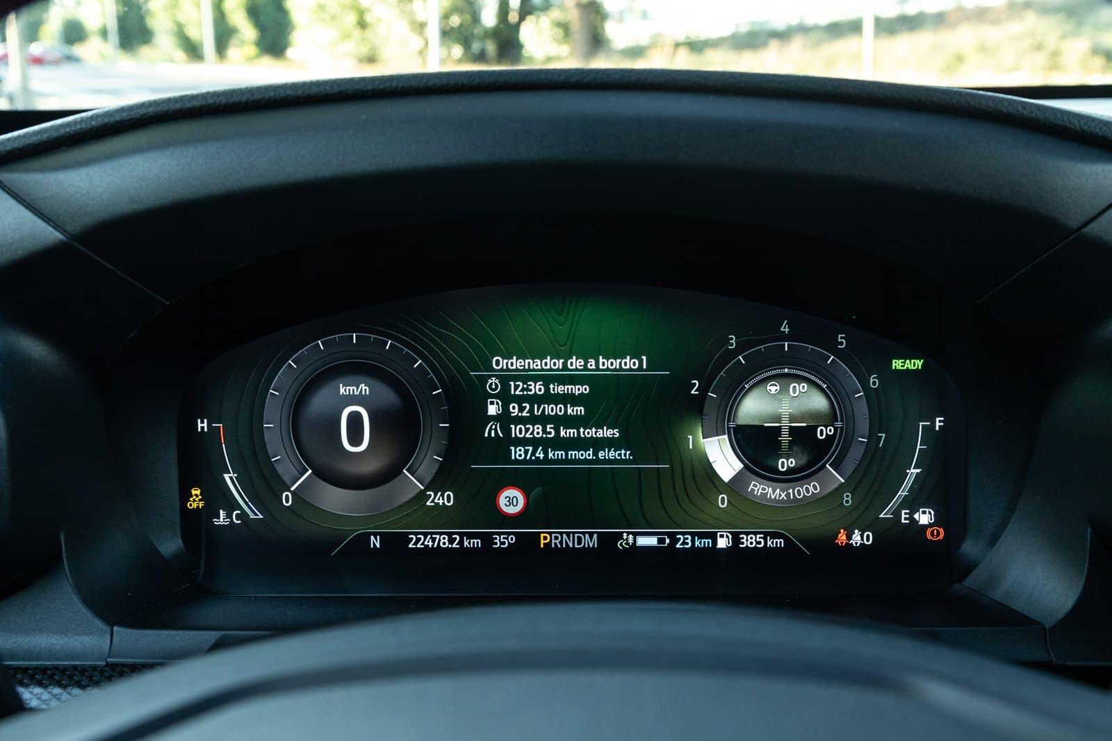 Cuadro digital Ford Explorer 3.0 PHEV AWD