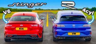[Vídeo] KIA Stinger V6 vs. VW Arteon R: ¿Apuestas por el coreano o por el alemán?