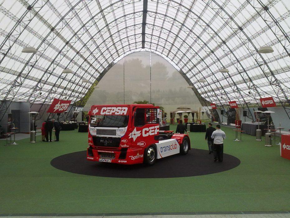 Presentación de la nueva temporada de CEPSA en el europeo de camiones