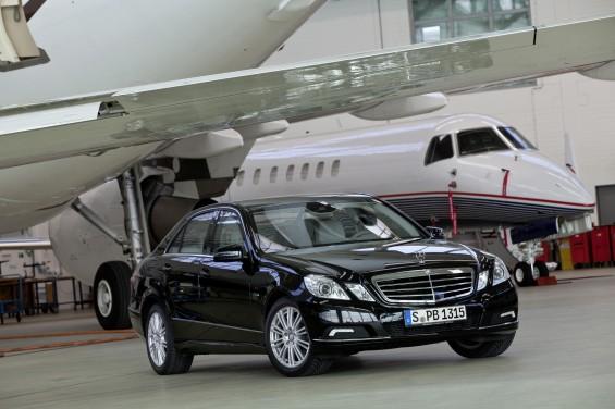 Mercedes Benz E-Guard, los disparos son su pan de cada día