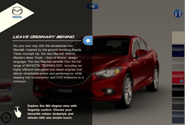 Mazda lanza una App del nuevo Mazda 6