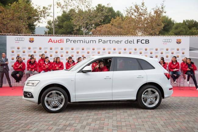 El FC Barcelona recibe sus nuevos Audi