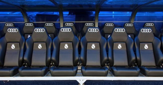 Audi en el banquillo del Real Madrid