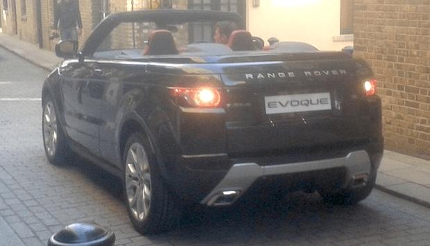 El Land Rover Evoque Cabrio pillado en Londres