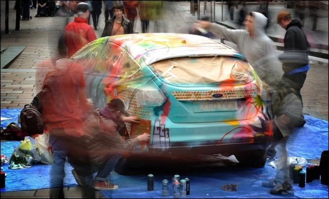 ¿De que color es tu coche?: Conviértelo en Urban Art