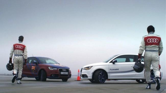 Audi personaliza dos A1 con los colores del Barça y del Madrid