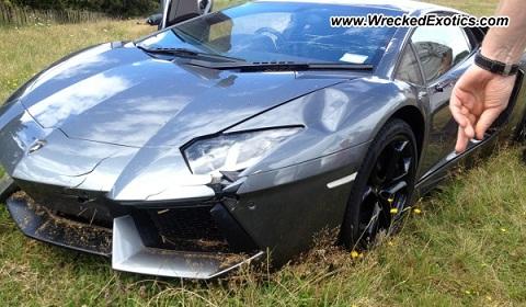Otro Lamborghini Aventador más al desguace