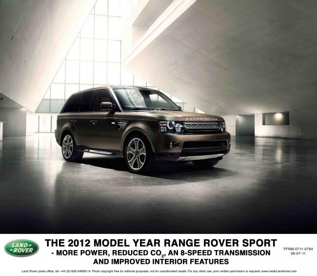 Range Rover Sport 2012: Más eficiencia, más potencia y más sport