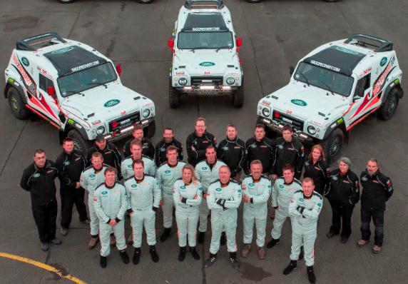 El equipo Race2Recovery, patrocinado por Land Rover, listo para iniciar el Dakar