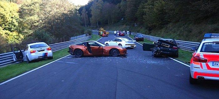 Ocho vehículos involucrados en un accidente en Nürburgring