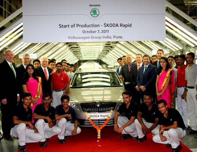 Comienza la producción del Skoda Rapid, el compacto para India