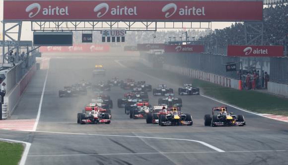 Fórmula 1: La India se estrena en el gran circo con una carrera insulsa