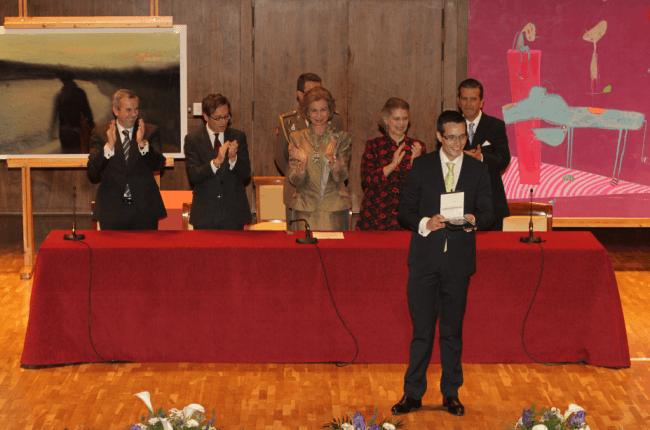 S.M. La Reina Doña Sofía entrega el XXVII Premio BMW de Pintura al pintor Albano