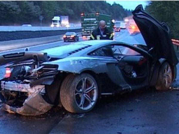 Cuatro superdeportivos accidentados en el mismo tramo de la Autobahn en 48 horas