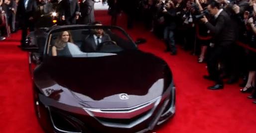 Robert Downey Jr. a los mandos del Acura NSX descapotable