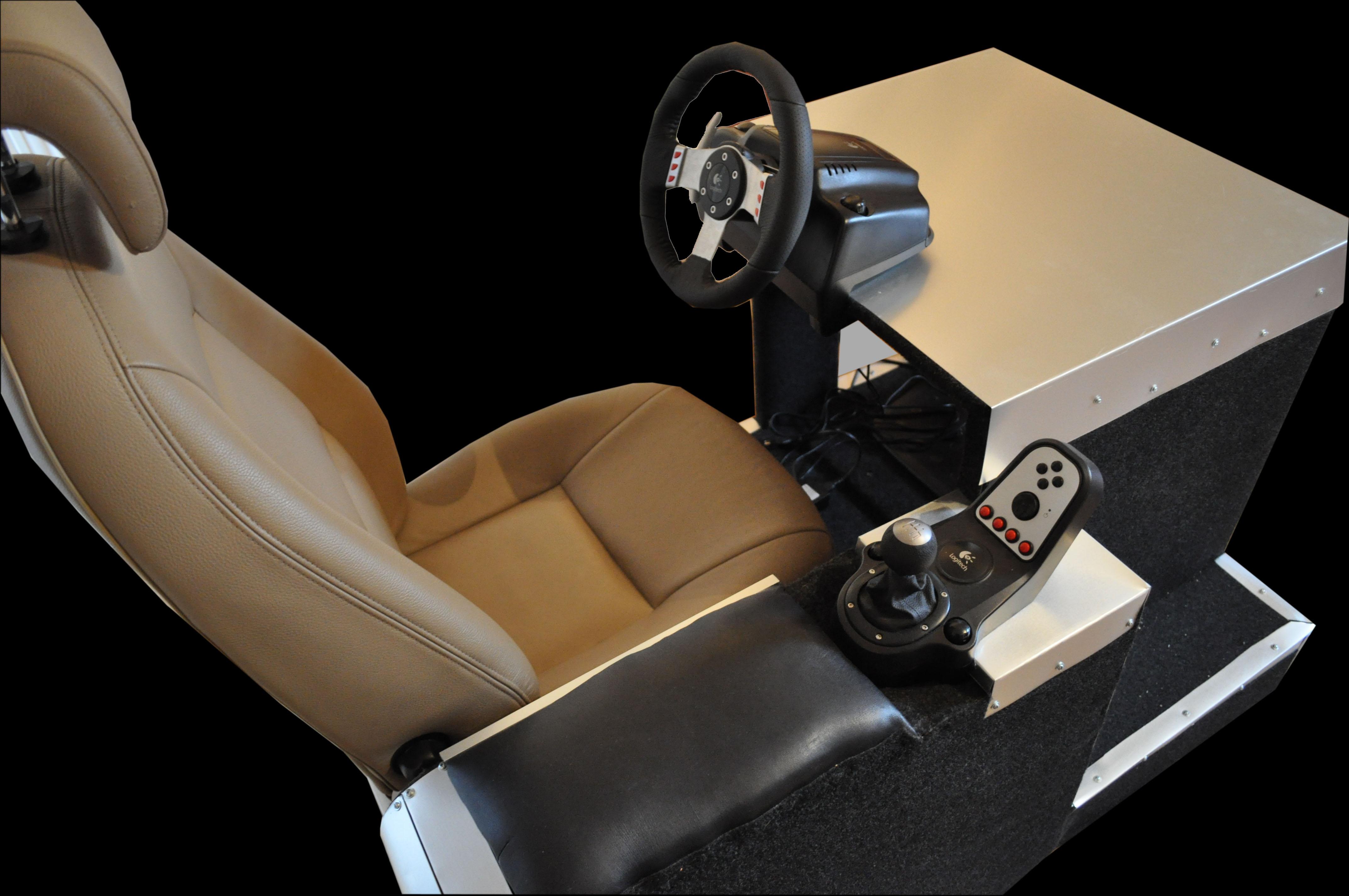 Sillón volante Cockpit casero para la Playstation, Xbox o PC