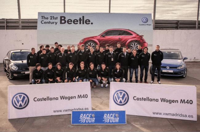 Los jugadores del Atlético de Madrid, invitados de excepción a la Volkswagen Race Tour en el Jarama