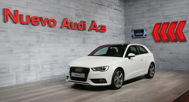 El nuevo A3, en el Audi Forum de Madrid