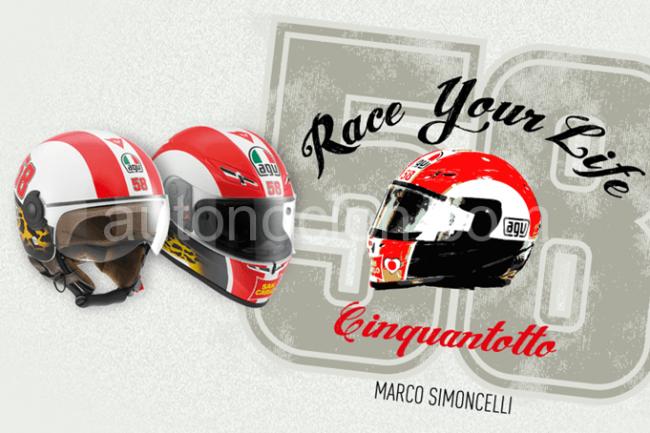 AGV presenta sus cascos homenaje a Marco Simoncelli