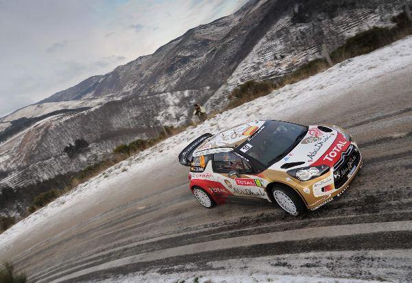 El DS3 WRC de Loeb y Elena corre más cuando hay nieve