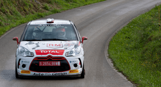 Ojeda en el Rally de España