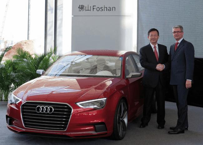 Nueva fábrica de Audi en China