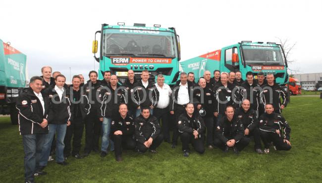 Iveco nos muestra la composición de su equipo para el Dakar 2013