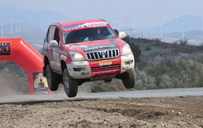 El equipo Kobe Motor en la Baja España 2012