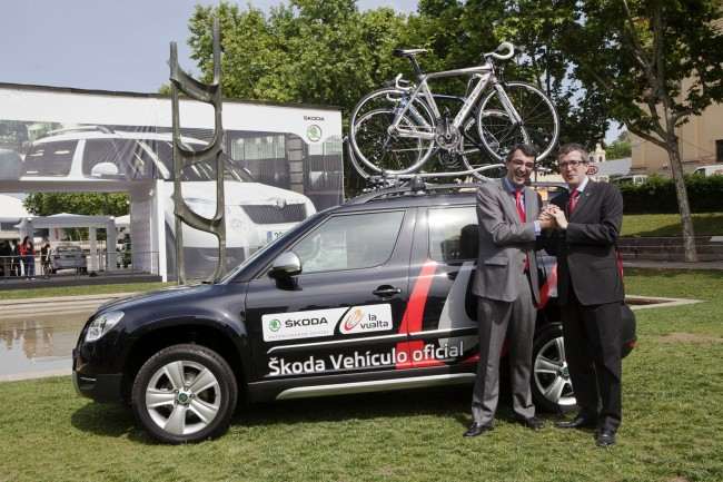Skoda coche oficial de la Vuelta ciclista a España