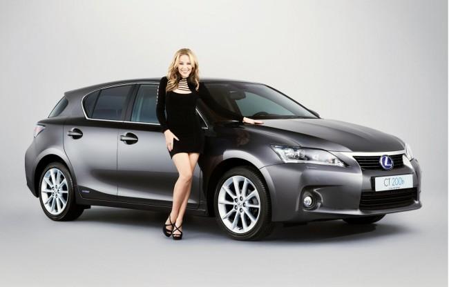 Kylie Minogue subasta su Lexus CT200h
