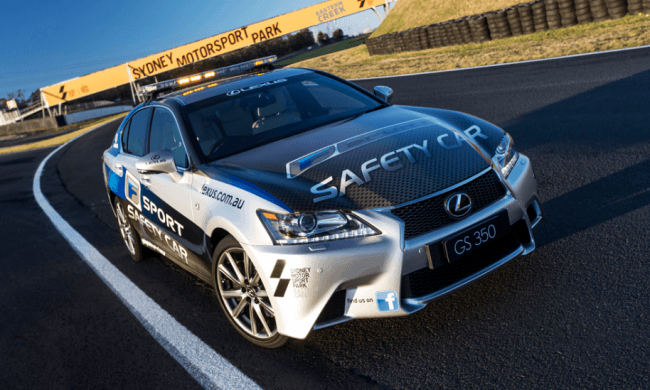 Un Lexus GS F Sport disfrazado de Safety Car