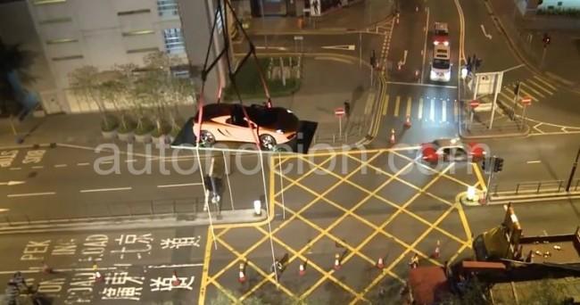 Increible debut del McLaren 12C Spider en Hong Kong