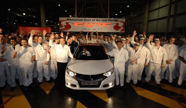 Arranca la producción del nuevo Civic en Swindon