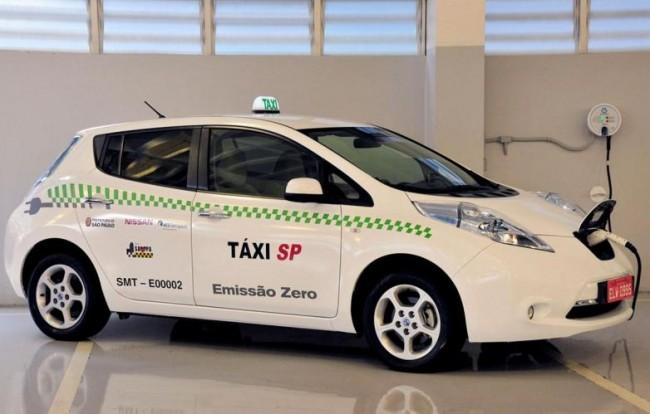 La ciudad de São Paulo usará el Nissan LEAF como taxi