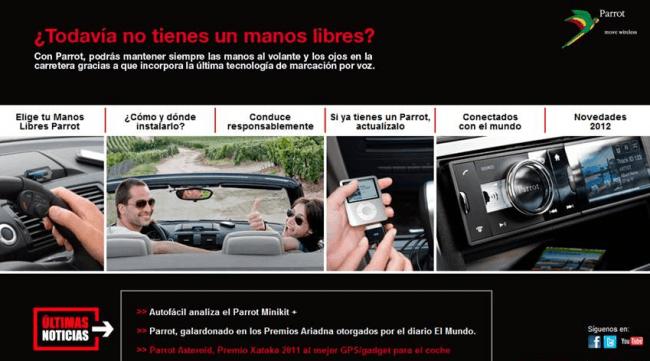 Parrot Iberia estrena web exclusiva de Manos Libres