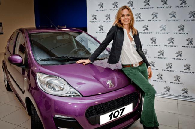 La modelo Verónica Blume elige el Peugeot 107