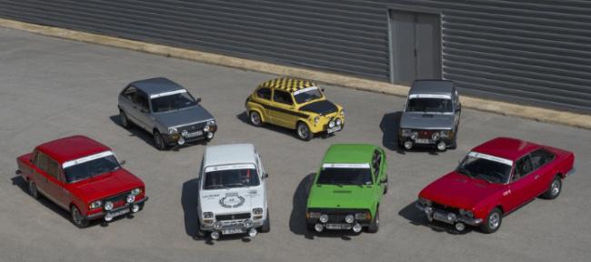 Siete Seat históricos en el 60 Rally de Costa Brava