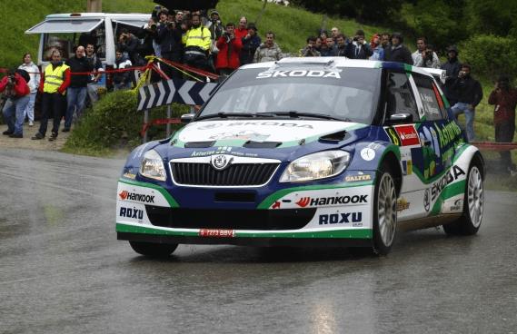 El Skoda Fabia S2000 en el Rallye Principe de Asturias