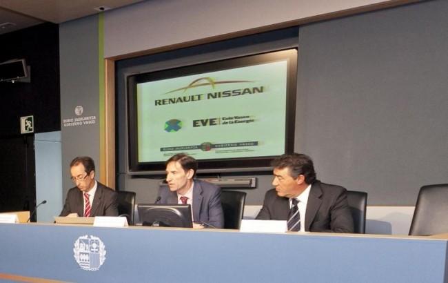 El Gobierno vasco y la alianza Renault-Nissan impulsan el vehículo eléctrico en Euskadi