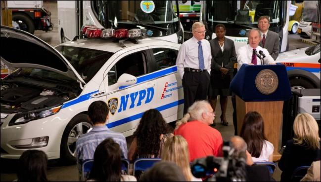 Coches eléctricos para los polis de Nueva York